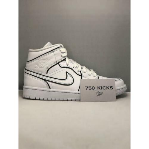 Nike Air Jordan 1 Mid Womens Iridescent Reflective White 40